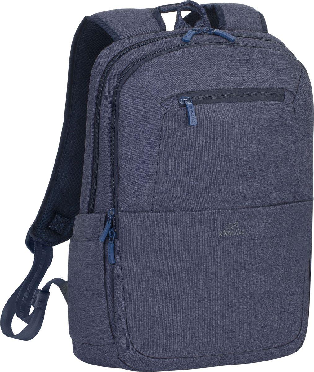 RivaCase 7760, Blue рюкзак для ноутбука 15,64260403571880Рюкзак в спортивном стиле из высококачественной, водоотталкивающей ткани.Легкий, но имеет утолщенные стенки для защиты ноутбука от случайных ударов и царапин, а также от пыли и влаги.Основное отделение для ноутбука с вертикальной загрузкой, имеет мягкие стенки и ремень для надежной фиксации ноутбука до 15.6.Дополнительное внутреннее отделение для планшета до 10.1.Внешнее переднее отделение на молнии для хранения аксессуаров, также оборудовано панелью-органайзером для хранения визитных карт, флэш-накопителей, смартфона. Также на передней панели карман на молнии для различных мелочей.Два боковых кармана для емкостей с водой.Двойная застежка молния для удобного доступа к устройству.Удобная мягкая ручка для переноски и наплечные ремни со смягчающими подкладками помогут чувствовать себя комфортно в самом долгом путешествии.На задней стенке имеется ремень крепления к багажной сумке и скрытый карман на молнии для паспорта, бумажника.Специальная система крепления ремешков на липучке закрепляет их и создает дополнительное удобство.