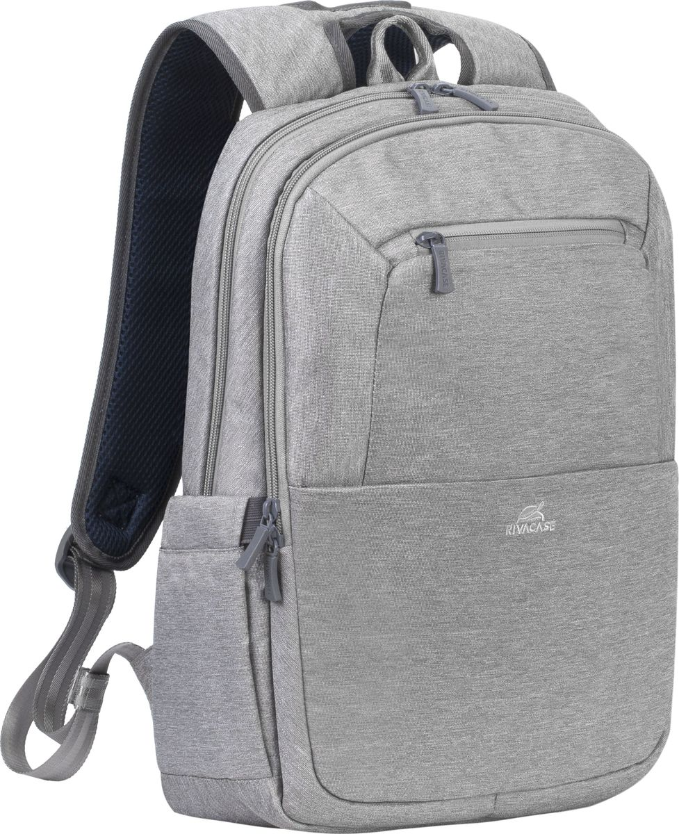RivaCase 7760, Grey рюкзак для ноутбука 15,64260403571897Рюкзак в спортивном стиле из высококачественной, водоотталкивающей ткани.Легкий, но имеет утолщенные стенки для защиты ноутбука от случайных ударов и царапин, а также от пыли и влаги.Основное отделение для ноутбука с вертикальной загрузкой, имеет мягкие стенки и ремень для надежной фиксации ноутбука до 15.6.Дополнительное внутреннее отделение для планшета до 10.1.Внешнее переднее отделение на молнии для хранения аксессуаров, также оборудовано панелью-органайзером для хранения визитных карт, флэш-накопителей, смартфона. Также на передней панели карман на молнии для различных мелочей.Два боковых кармана для емкостей с водой.Двойная застежка молния для удобного доступа к устройству.Удобная мягкая ручка для переноски и наплечные ремни со смягчающими подкладками помогут чувствовать себя комфортно в самом долгом путешествии.На задней стенке имеется ремень крепления к багажной сумке и скрытый карман на молнии для паспорта, бумажника.Специальная система крепления ремешков на липучке закрепляет их и создает дополнительное удобство.