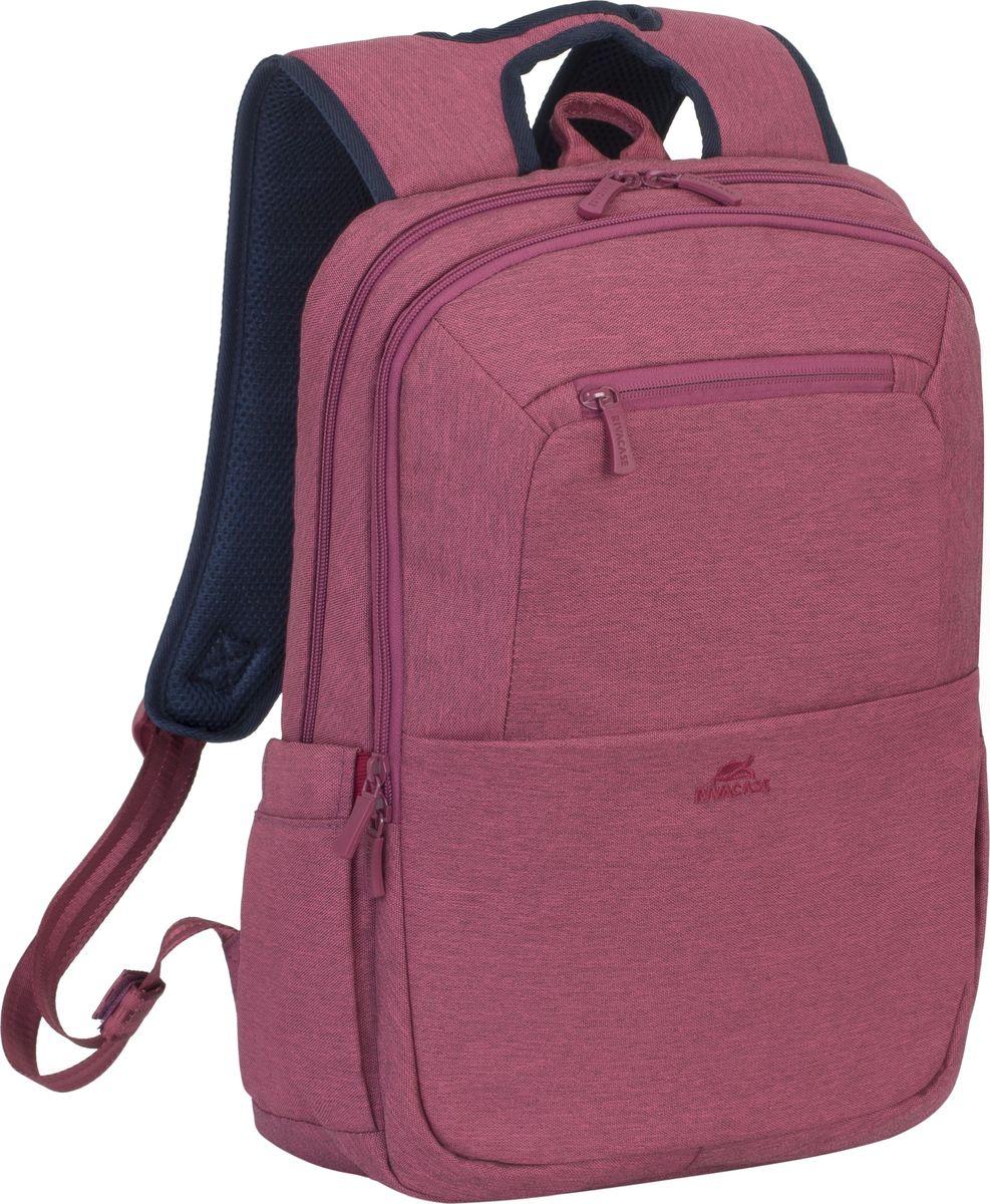 RIVACASE 7760, Red рюкзак для ноутбука 15,64260403571903Рюкзак в спортивном стиле из высококачественной, водоотталкивающей ткани.Легкий, но имеет утолщенные стенки для защиты ноутбука от случайных ударов и царапин, а также от пыли и влаги.Основное отделение для ноутбука с вертикальной загрузкой, имеет мягкие стенки и ремень для надежной фиксации ноутбука до 15.6.Дополнительное внутреннее отделение для планшета до 10.1.Внешнее переднее отделение на молнии для хранения аксессуаров, также оборудовано панелью-органайзером для хранения визитных карт, флэш-накопителей, смартфона. Также на передней панели карман на молнии для различных мелочей.Два боковых кармана для емкостей с водой.Двойная застежка молния для удобного доступа к устройству.Удобная мягкая ручка для переноски и наплечные ремни со смягчающими подкладками помогут чувствовать себя комфортно в самом долгом путешествии.На задней стенке имеется ремень крепления к багажной сумке и скрытый карман на молнии для паспорта, бумажника.Специальная система крепления ремешков на липучке закрепляет их и создает дополнительное удобство.