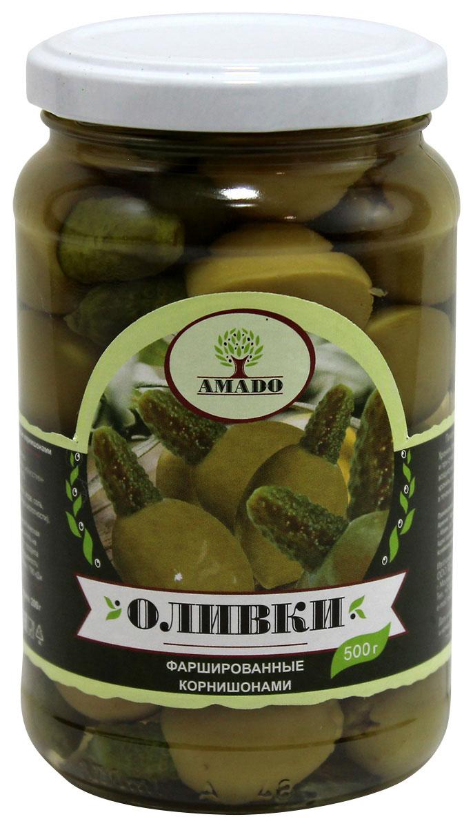 Amado зеленые оливки с корнишонами, 500 г24Экологически чистый продукт. Чистейшая горная вода позволяет почувствовать истинный вкус оливок. Отсутствуют усилители вкуса и консерванты.