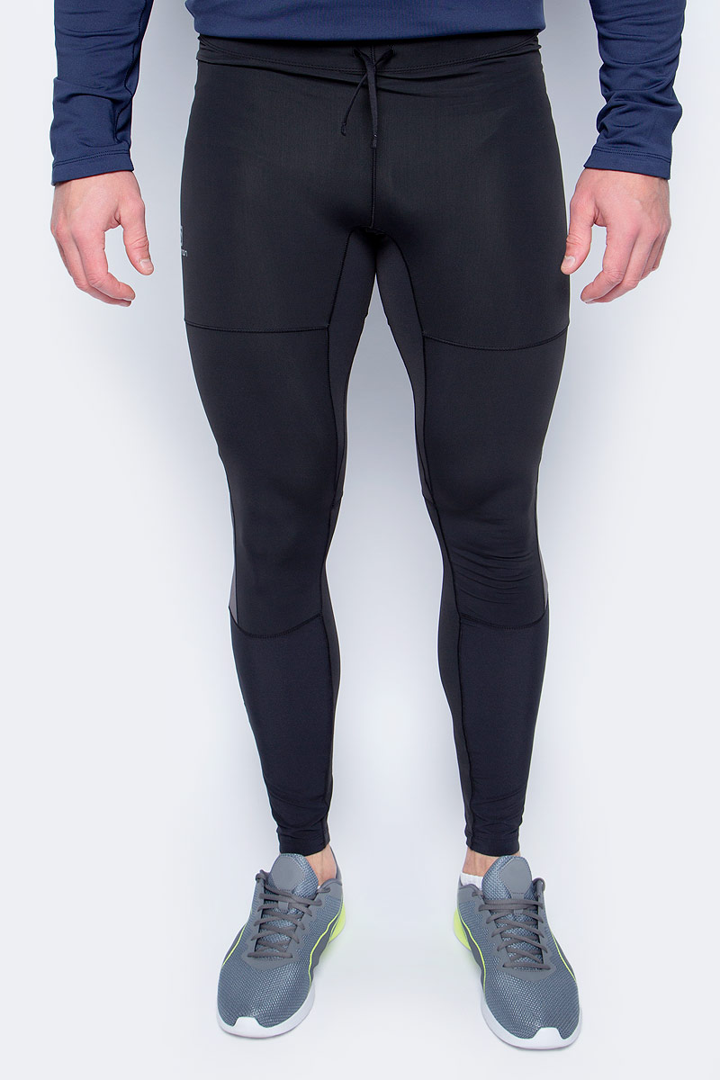Тайтсы мужские Salomon Pulse Warm Tight M, цвет: черный. L39787600. Размер XXL (60) тайтсы asics тайтсы base tight gpx