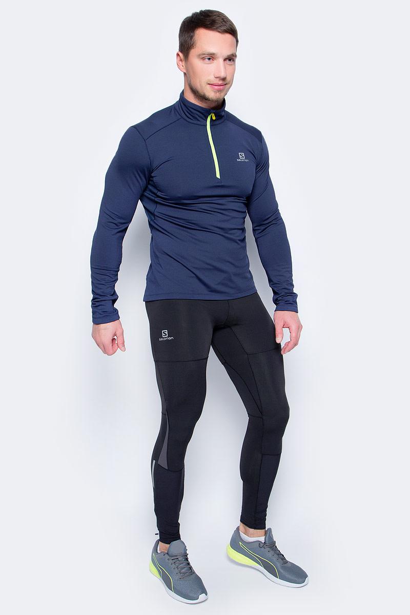 Тайтсы мужские Salomon Pulse Warm Tight M, цвет: черный. L39787600. Размер XXL (60)L39787600Облегающие мужские брюки PULSE WARM TIGHT из чистого ворсованного трикотажа дарят комфорт и дышащее тепло при беге в прохладную погоду. Светоотражающая отделка сделает вас заметным в темное время суток. Бегайте безопасно даже в сумерках.