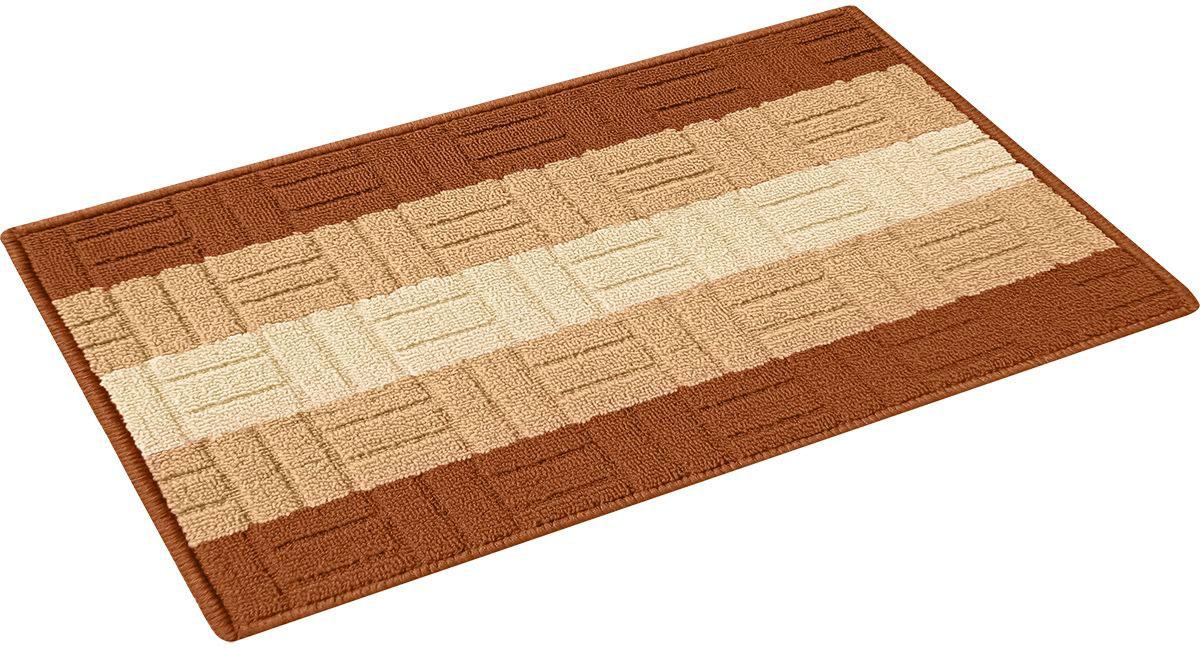 Коврик придверный Vortex Milan, цвет: коричневый, 40 х 60 см. 2243922439_коричневыйКоврик Milan 40*60 см, на латексной основе VORTEX