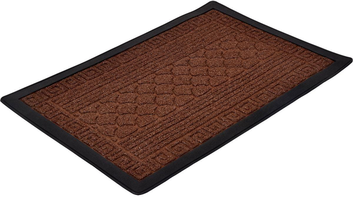 Коврик рельефный Vortex Grass, 40 х 60 см. 22522ARL50/80/05/6Коврик рельефный с резиновой подложкой. Очищает обувь от грязи и задерживает влагу при входе в помещение, не скользит.