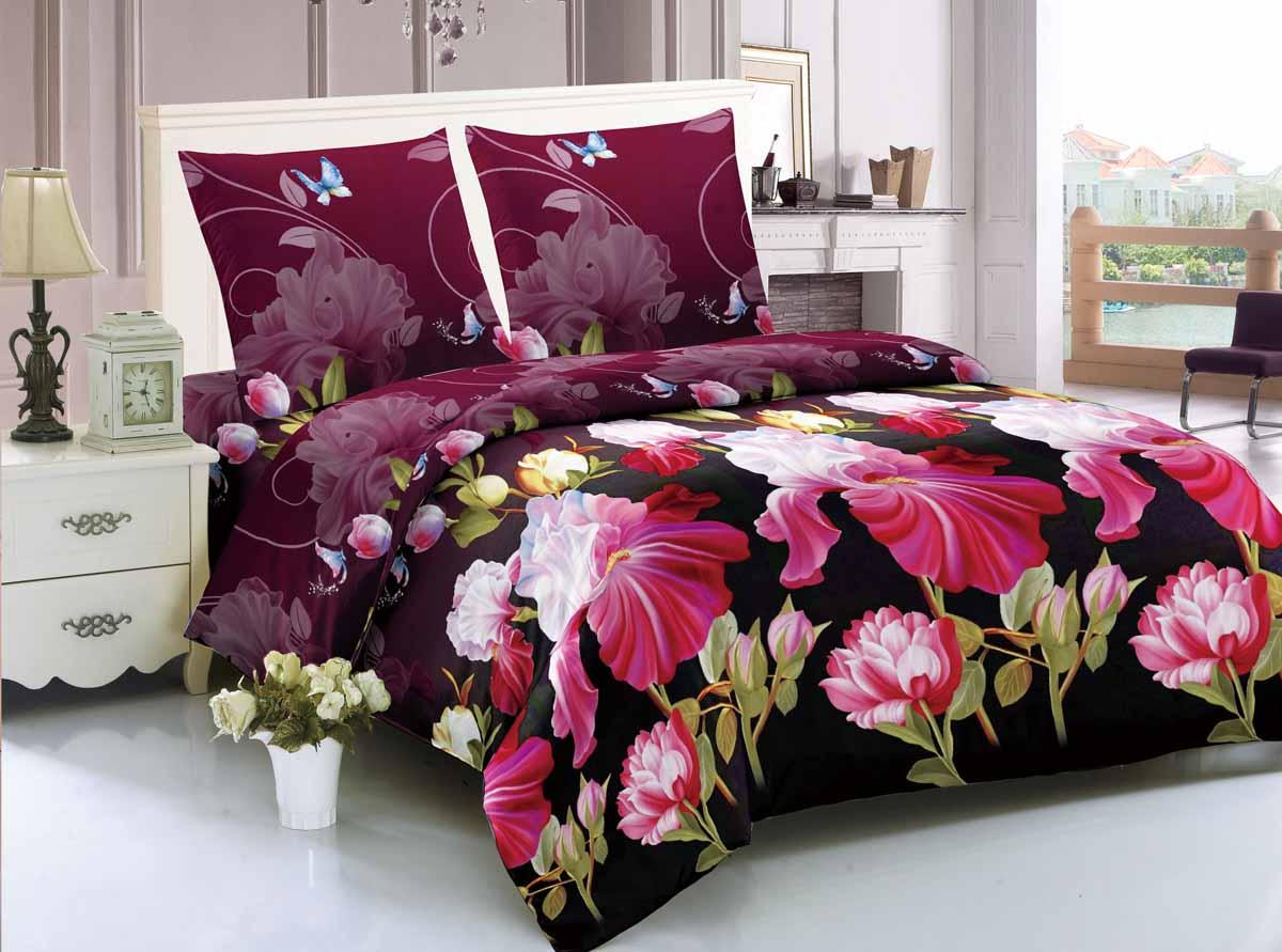 Комплект белья Amore Mio Thebes, 1,5-спальный, наволочки 70x70, цвет: бордовый, черный, розовый88345Amore Mio - Комфорт и Уют - Каждый день! Amore Mio предлагает оценить соотношение цены и качества коллекции. Разнообразие ярких и современных дизайнов прослужат не один год и всегда будут радовать Вас и Ваших близких сочностью красок и красивым рисунком. Мако-сатин - свежее решение, для уюта на даче или дома, созданное с любовью для вашего комфорта и отличного настроения! Нано-инновации позволили открыть новую ткань, полученную, в результате высокотехнологического процесса, сочетает в себе широкий спектр отличных потребительских характеристик и невысокой стоимости. Легкая, плотная, мягкая ткань, приятна и практична с эффектом персиковой кожуры. Отлично стирается, гладится, быстро сохнет. Дисперсное крашение, великолепно передает качество рисунков.