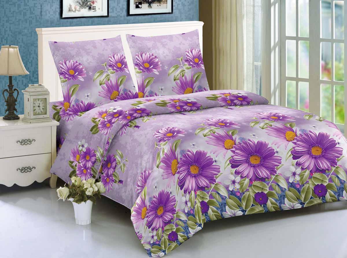 Комплект белья Amore Mio Kinshasa, 1,5-спальный, наволочки 70x70, цвет: сиреневый88349Amore Mio - Комфорт и Уют - Каждый день! Amore Mio предлагает оценить соотношение цены и качества коллекции. Разнообразие ярких и современных дизайнов прослужат не один год и всегда будут радовать Вас и Ваших близких сочностью красок и красивым рисунком. Мако-сатин - свежее решение, для уюта на даче или дома, созданное с любовью для вашего комфорта и отличного настроения! Нано-инновации позволили открыть новую ткань, полученную, в результате высокотехнологического процесса, сочетает в себе широкий спектр отличных потребительских характеристик и невысокой стоимости. Легкая, плотная, мягкая ткань, приятна и практична с эффектом персиковой кожуры. Отлично стирается, гладится, быстро сохнет. Дисперсное крашение, великолепно передает качество рисунков.Советы по выбору постельного белья от блогера Ирины Соковых. Статья OZON Гид