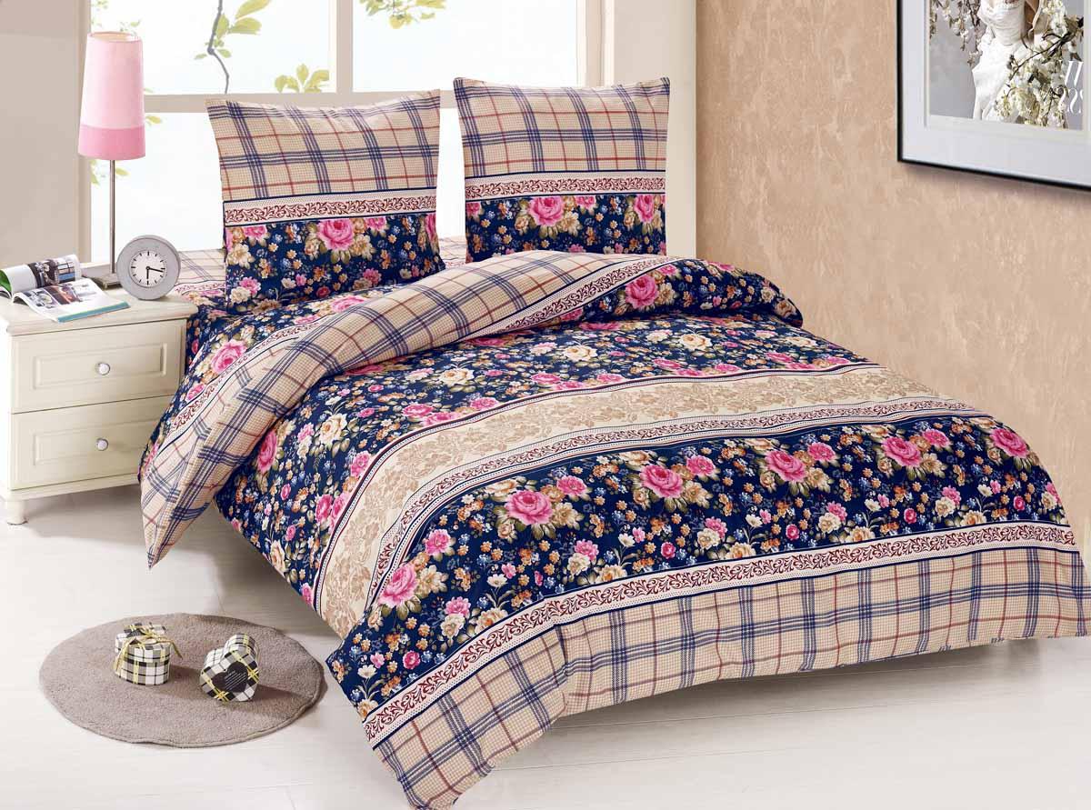 Комплект белья Amore Mio Irina, 1,5-спальный, наволочки 70x70, цвет: синий, бежевый88440Amore Mio - Комфорт и Уют - Каждый день! Amore Mio предлагает оценить соотношение цены и качества коллекции. Разнообразие ярких и современных дизайнов прослужат не один год и всегда будут радовать Вас и Ваших близких сочностью красок и красивым рисунком. Мако-сатин - свежее решение, для уюта на даче или дома, созданное с любовью для вашего комфорта и отличного настроения! Нано-инновации позволили открыть новую ткань, полученную, в результате высокотехнологического процесса, сочетает в себе широкий спектр отличных потребительских характеристик и невысокой стоимости. Легкая, плотная, мягкая ткань, приятна и практична с эффектом персиковой кожуры. Отлично стирается, гладится, быстро сохнет. Дисперсное крашение, великолепно передает качество рисунков.
