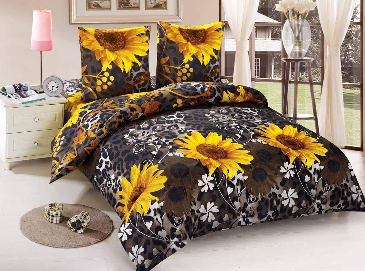 Комплект белья Amore Mio Yadviga, 1,5-спальный, наволочки 70x70, цвет: коричневый, желтый88461Amore Mio - Комфорт и Уют - Каждый день! Amore Mio предлагает оценить соотношение цены и качества коллекции. Разнообразие ярких и современных дизайнов прослужат не один год и всегда будут радовать Вас и Ваших близких сочностью красок и красивым рисунком. Мако-сатин - свежее решение, для уюта на даче или дома, созданное с любовью для вашего комфорта и отличного настроения! Нано-инновации позволили открыть новую ткань, полученную, в результате высокотехнологического процесса, сочетает в себе широкий спектр отличных потребительских характеристик и невысокой стоимости. Легкая, плотная, мягкая ткань, приятна и практична с эффектом персиковой кожуры. Отлично стирается, гладится, быстро сохнет. Дисперсное крашение, великолепно передает качество рисунков.