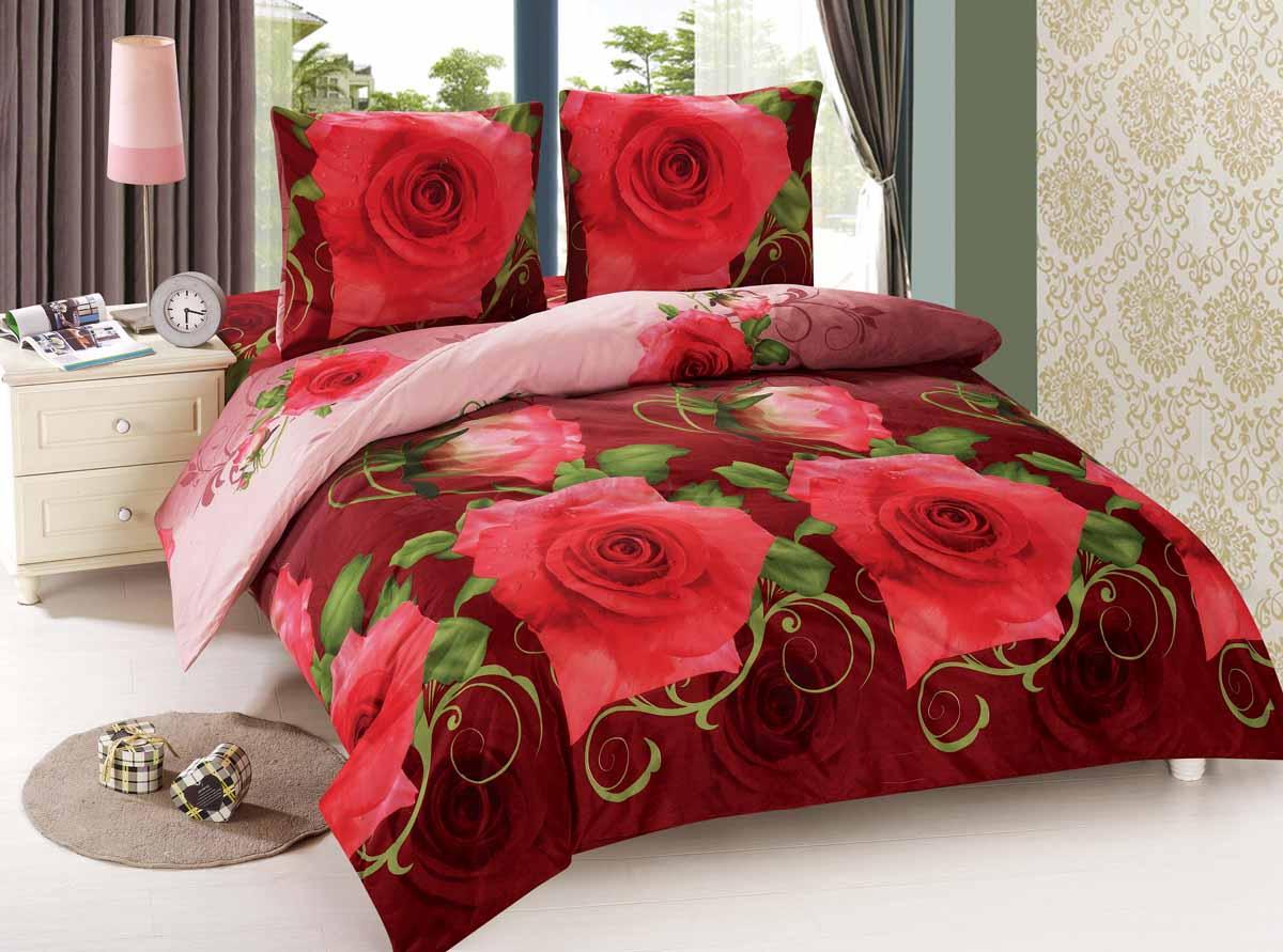 Комплект белья Amore Mio Roza, 2-спальный, наволочки 70x70, цвет: красный41/022-PCКомплект постельного белья Amore Mio изготовлен из мако-сатина. Нано-инновации позволили открыть новую ткань, которая сочетает в себе широкий спектр отличных потребительских характеристик и невысокой стоимости. Легкая, плотная, мягкая ткань, приятна и обладает эффектом персиковой кожуры. Отлично стирается, гладится, быстро сохнет. Дисперсное крашение великолепно передает качество рисунков и необычайно устойчиво к истиранию. Комплект состоит из пододеяльника, простыни и двух наволочек.Советы по выбору постельного белья от блогера Ирины Соковых. Статья OZON Гид