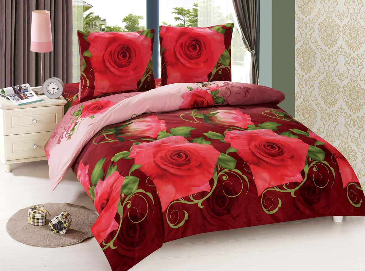 Комплект белья Amore Mio Roza, евро, наволочки 70x70, цвет: красный88494Amore Mio - Комфорт и Уют - Каждый день! Amore Mio предлагает оценить соотношение цены и качества коллекции. Разнообразие ярких и современных дизайнов прослужат не один год и всегда будут радовать Вас и Ваших близких сочностью красок и красивым рисунком. Мако-сатин - свежее решение, для уюта на даче или дома, созданное с любовью для вашего комфорта и отличного настроения! Нано-инновации позволили открыть новую ткань, полученную, в результате высокотехнологического процесса, сочетает в себе широкий спектр отличных потребительских характеристик и невысокой стоимости. Легкая, плотная, мягкая ткань, приятна и практична с эффектом персиковой кожуры. Отлично стирается, гладится, быстро сохнет. Дисперсное крашение, великолепно передает качество рисунков.