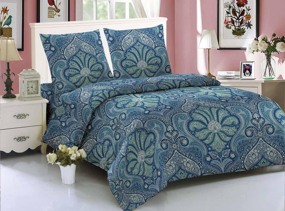 Комплект белья Amore Mio Karakhi, 1,5-спальный, наволочки 70x70, цвет: синий, зеленый89216Amore Mio - Комфорт и Уют - Каждый день! Amore Mio предлагает оценить соотношение цены и качества коллекции. Разнообразие ярких и современных дизайнов прослужат не один год и всегда будут радовать Вас и Ваших близких сочностью красок и красивым рисунком. Мако-сатин - свежее решение, для уюта на даче или дома, созданное с любовью для вашего комфорта и отличного настроения! Нано-инновации позволили открыть новую ткань, полученную, в результате высокотехнологического процесса, сочетает в себе широкий спектр отличных потребительских характеристик и невысокой стоимости. Легкая, плотная, мягкая ткань, приятна и практична с эффектом персиковой кожуры. Отлично стирается, гладится, быстро сохнет. Дисперсное крашение, великолепно передает качество рисунков.