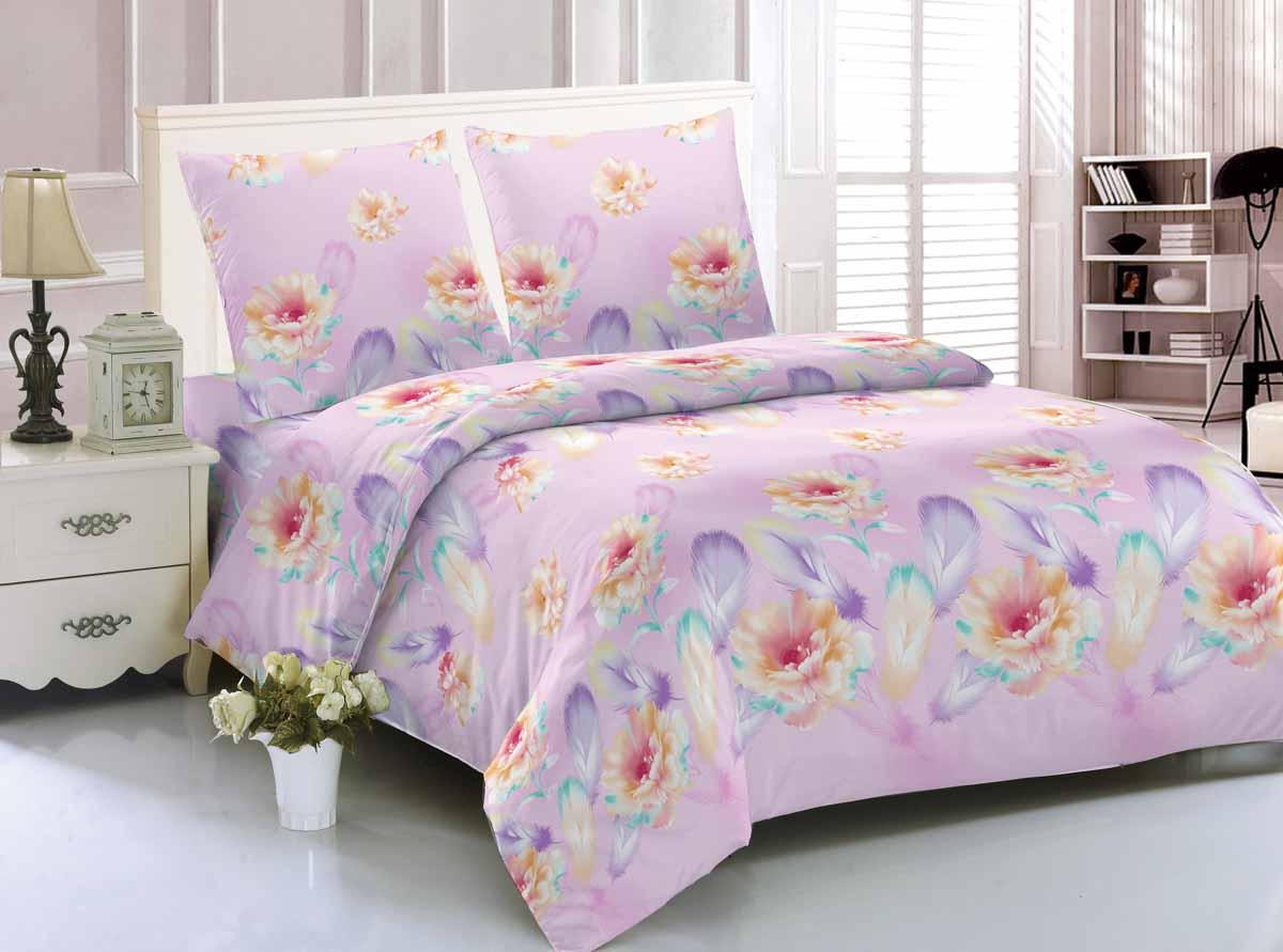 Комплект белья Amore Mio Astana, 1,5-спальный, наволочки 70x70, цвет: розовый, фиолетовый, оранжевый89289Комплект постельного белья Amore Mio Astana является экологически безопасным для всей семьи, так как выполнен из мако-сатина. Постельное белье оформлено оригинальным изображением и имеет изысканный внешний вид. Дисперсное крашение, великолепно передает качество рисунка. Мако-сатин - это свежее решение, для уюта на даче или дома, созданное с любовью для вашего комфорта и отличного настроения! Легкая, плотная, мягкая ткань, приятна на ощупь и практична. Она отлично стирается, гладится, быстро сохнет.