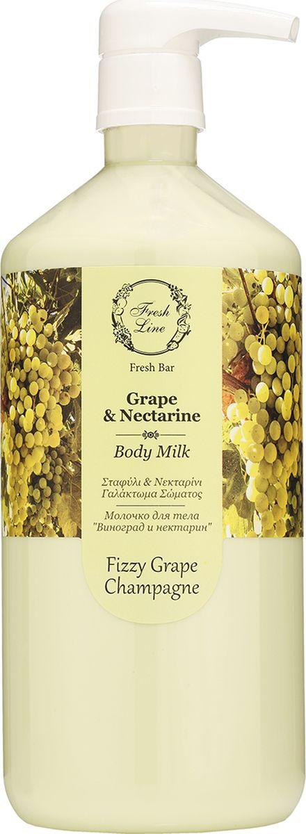 Fresh Line Гель для душа Виноград и нектарин, 1000 мл910602Свежий, искрящийся аромат наполнит кожу влагой и подарит вам отличное настроение! Гель для душа обладает улучшенными пенящимися свойствами, деликатно очищает кожу, не пересушивая ее, т.к. содержит натуральные вспенивающие компоненты. Пантенол в его составе придает коже мягкость и гладкость, а также успокаивает, увлажняет и смягчает. Растительный глицерин предотвращает потерю влаги.Не содержит SLS.