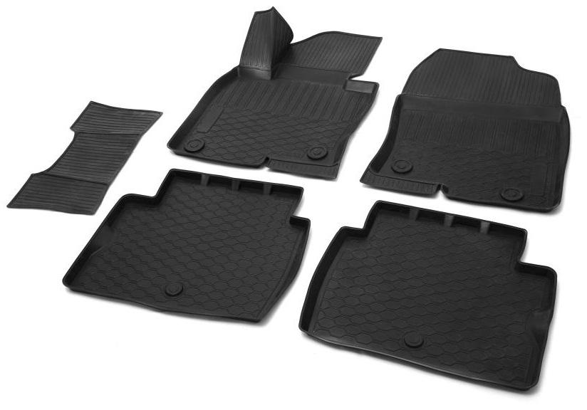 Коврик в салон автомобиля Rival, для Mazda CX-5 2017-13803004Автомобильные коврики салона Rival Прочные и долговечные коврики в салон автомобиля, изготовлены из высококачественного и экологичного сырья, полностью повторяют геометрию салона вашего автомобиля.- Надежная система крепления, позволяющая закрепить коврик на штатные элементы фиксации, в результате чего отсутствует эффект скольжения по салону автомобиля.- Высокая стойкость поверхности к стиранию.- Специализированный рисунок и высокий борт, препятствующие распространению грязи и жидкости по поверхности коврика.- Перемычка задних ковриков в комплекте предотвращает загрязнение тоннеля карданного вала.- Произведены из первичных материалов, в результате чего отсутствует неприятный запах в салоне автомобиля.- Высокая эластичность, можно беспрепятственно эксплуатировать при температуре от -45 ?C до +45 ?C.Уважаемые клиенты!Обращаем ваше внимание, что коврики имеет форму соответствующую модели данного автомобиля. Фото служит для визуального восприятия товара.