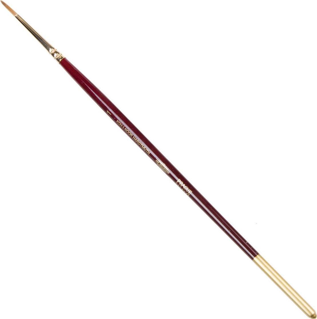 Koh-I-Noor Кисть колонок круглая №1 короткая ручка200378Высококачественная кисть из натурального волоса колонка. Волос прекрасно сохраняет форму, не ломается, впитывает влагу и хорошо моется под проточной струей воды. Подходит для акварели и индийских красок.
