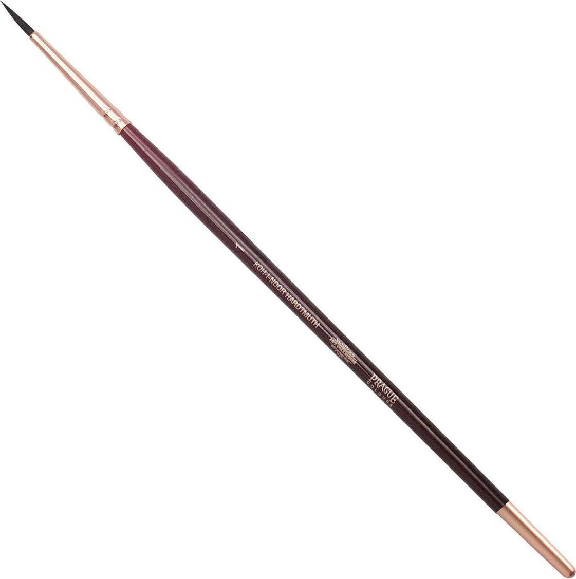Koh-I-Noor Кисть белка круглая №1 короткая ручка200379Высококачественная кисть из натурального волоса белки. Волос прекрасно сохраняет форму, не ломается, впитывает влагу и хорошо моется под проточной струей воды. Подходит для акварели и индийских красок.