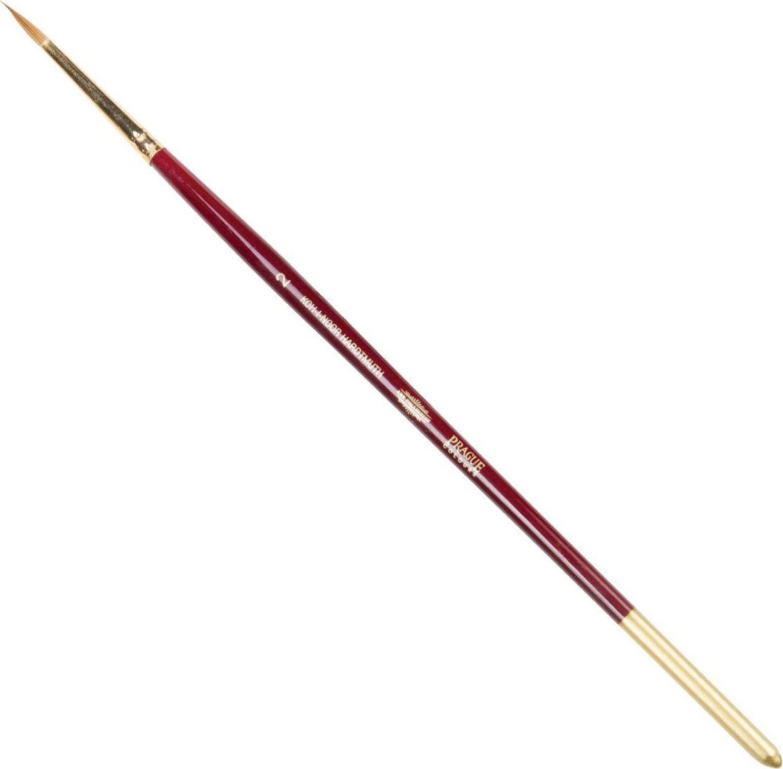 Koh-I-Noor Кисть колонок круглая №2 короткая ручка200381Высококачественная кисть из натурального волоса колонка. Волос прекрасно сохраняет форму, не ломается, впитывает влагу и хорошо моется под проточной струей воды. Подходит для акварели и индийских красок.