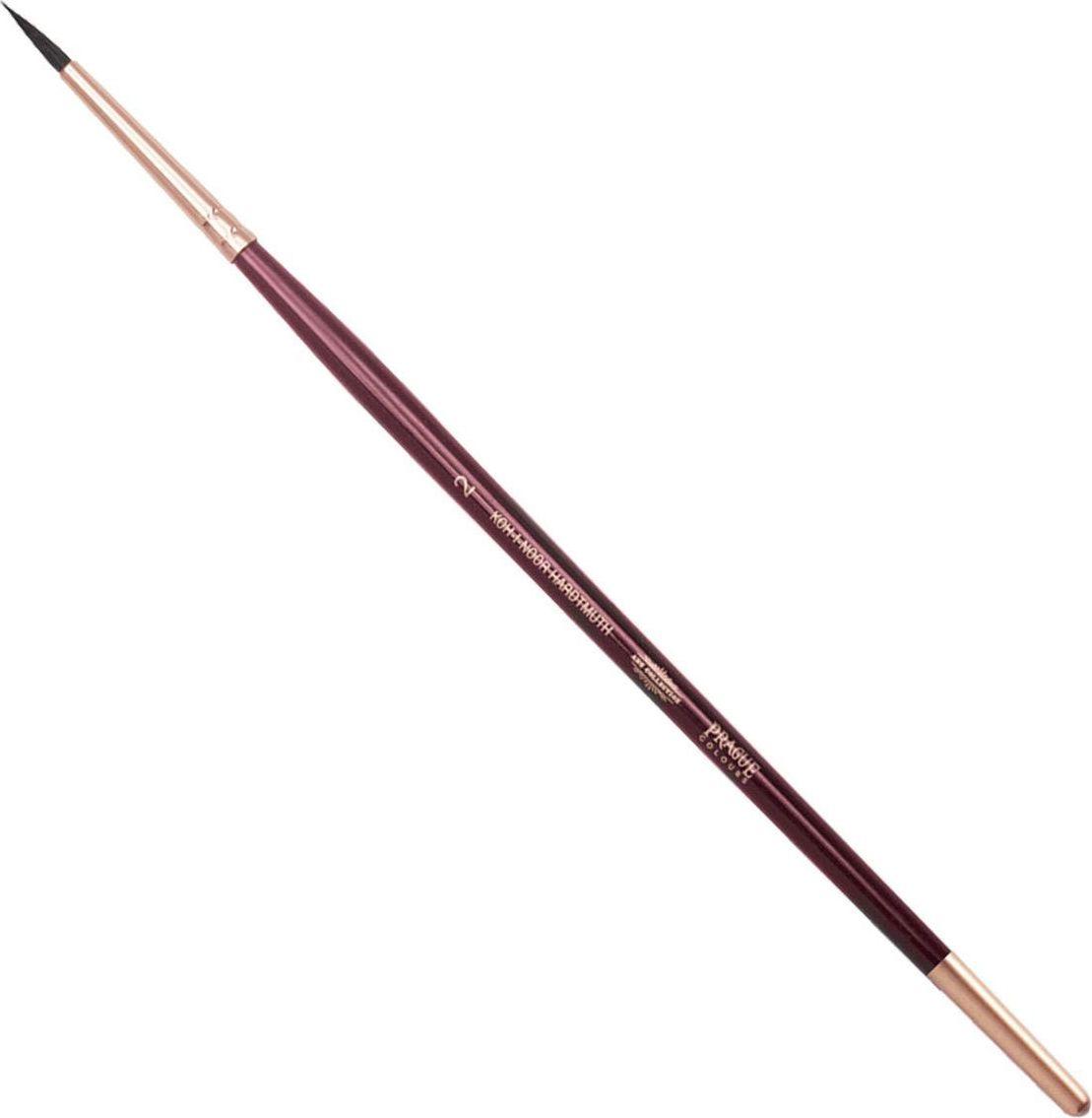 Koh-I-Noor Кисть белка круглая №2 короткая ручка200383Высококачественная кисть  Koh-i-Noor выполнена из натурального волоса белки. Волос прекрасно сохраняет форму, не ломается, впитывает влагу и хорошо моется под проточной струей воды. Подходит для акварели и индийских красок.