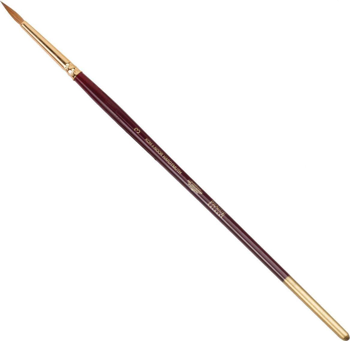 Koh-I-Noor Кисть колонок круглая №3короткая ручка -  Кисти