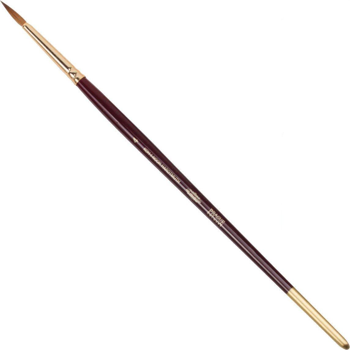 Koh-I-Noor Кисть колонок круглая №4 короткая ручка200386Высококачественная кисть из натурального волоса колонка. Волос прекрасно сохраняет форму, не ломается, впитывает влагу и хорошо моется под проточной струей воды. Подходит для акварели и индийских красок.