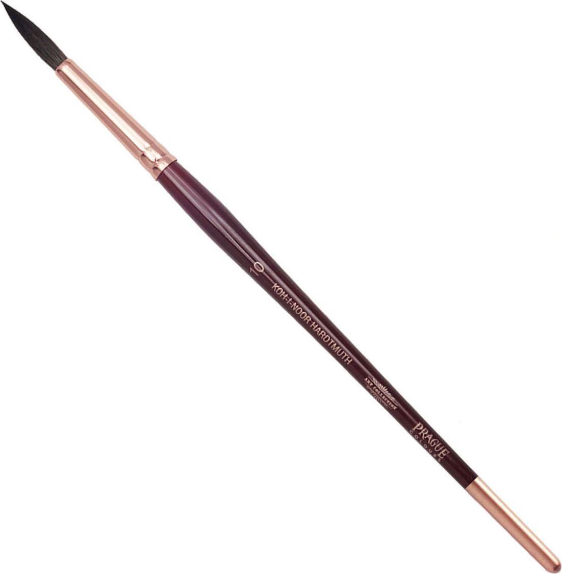 Koh-I-Noor Кисть белка круглая №10 короткая ручка200401Высококачественная кисть Koh-i-Noor выполнена из натурального волоса белки. Волос прекрасно сохраняет форму, не ломается, впитывает влагу и хорошо моется под проточной струей воды. Подходит для акварели и индийских красок.