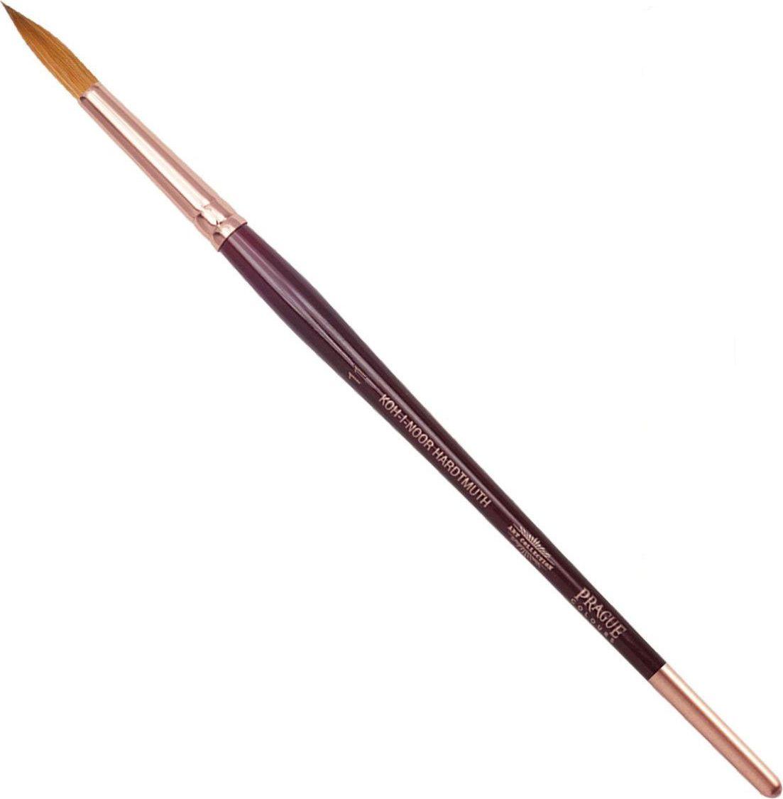 Koh-I-Noor Кисть колонок круглая №11 короткая ручка200402Высококачественная кисть из натурального волоса колонка. Волос прекрасно сохраняет форму, не ломается, впитывает влагу и хорошо моется под проточной струей воды. Подходит для акварели и индийских красок.