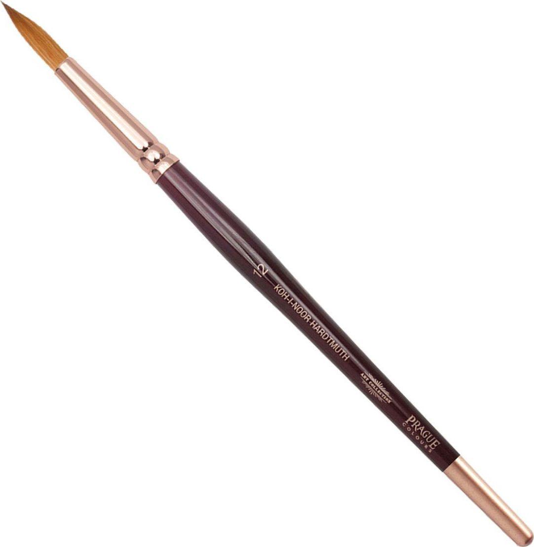 Koh-I-Noor Кисть колонок круглая №12 короткая ручка200404Высококачественная кисть из натурального волоса колонка. Волос прекрасно сохраняет форму, не ломается, впитывает влагу и хорошо моется под проточной струей воды. Подходит для акварели и индийских красок.