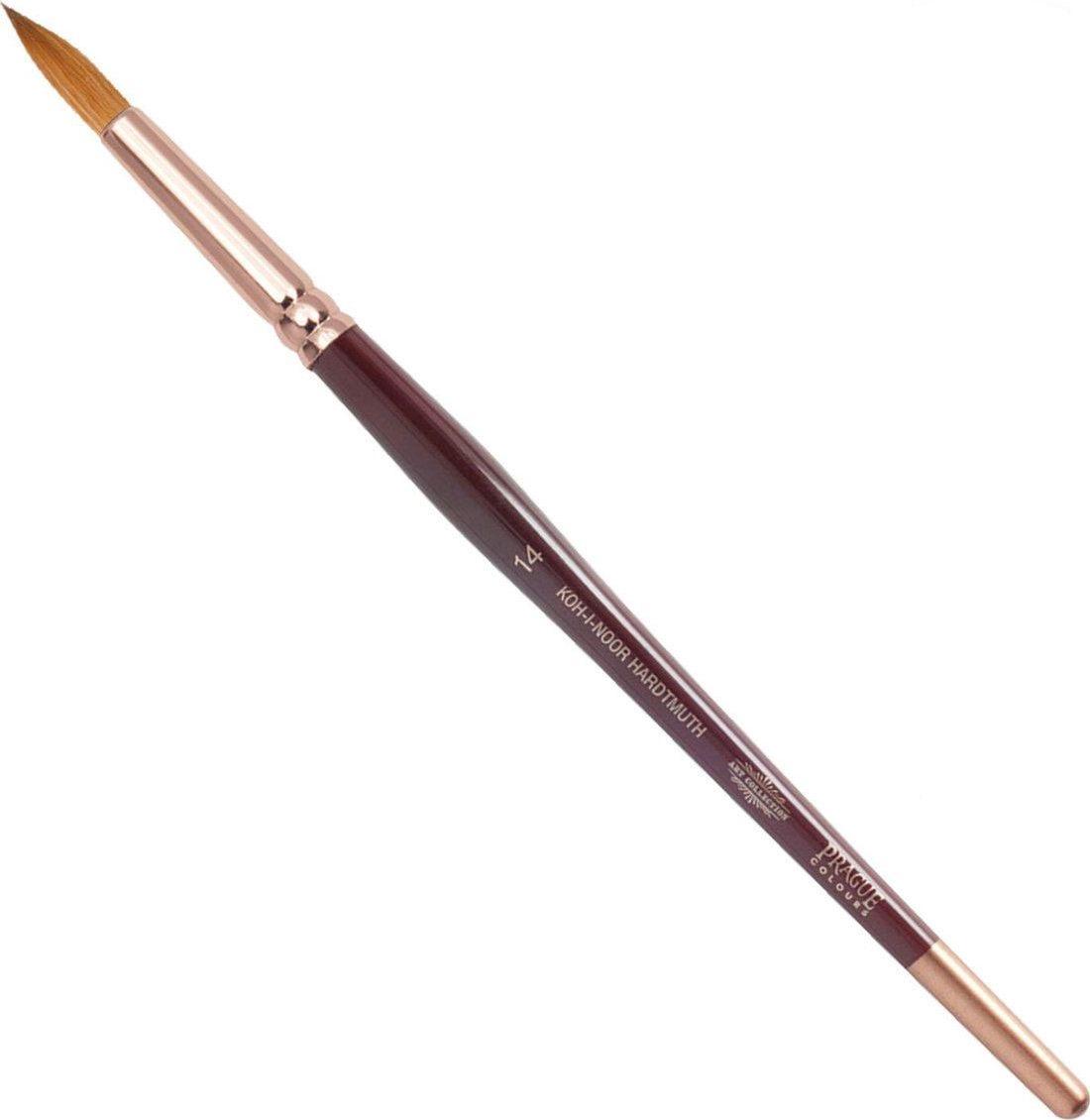 Koh-I-Noor Кисть колонок круглая №14 короткая ручка -  Кисти