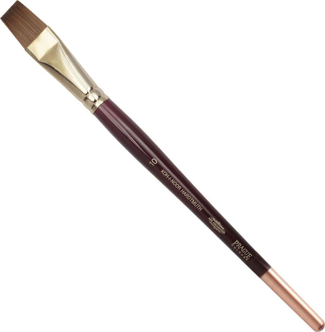 Koh-I-Noor Кисть колонок плоская №10 короткая ручка -  Кисти