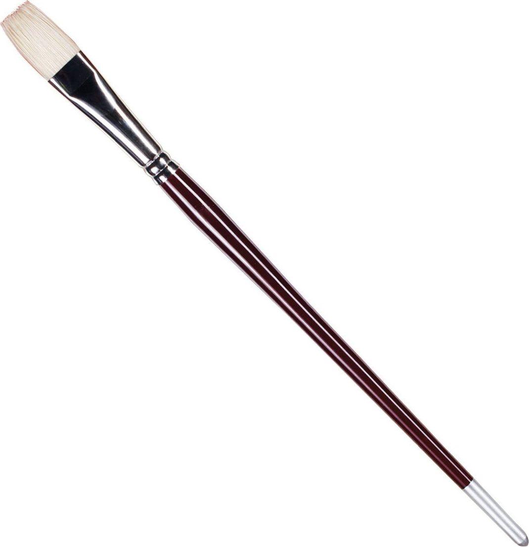 Koh-I-Noor Кисть щетина плоская №10 длинная ручка200422Высококачественная кисть  Koh-i-Noor, изготовленная из натуральной щетины. Натуральная щетина характеризуется износоустойчивостью, равномерно распределяет краску по рабочей поверхности. Подходит для акварели и индийских красок.
