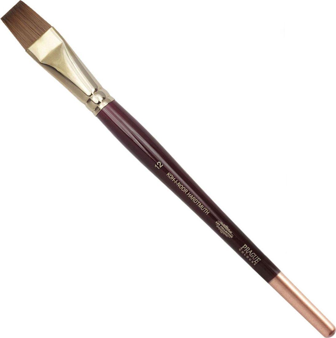 Koh-I-Noor Кисть колонок плоская №12 короткая ручка -  Кисти
