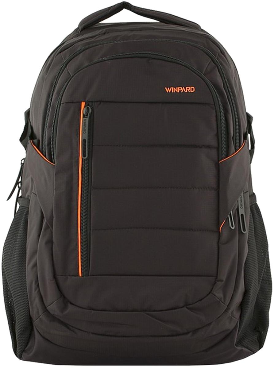 Рюкзак мужской Winpard, цвет: черный. 9905-14/black9905-14/blackРюкзак мужской Winpard выполнен из полиэстера. Рюкзак имеет основное отделение на молнии, три изолированных отдела, внутренний органайзер, вмещает ноутбук до 15, дополнительные карманы на молнии снаружи, по бокам - сетчатые карманы для бутылок с водой и других мелочей. Рюкзак имеет прочные лямки регулируемой длины и ручку для переноски в руке.