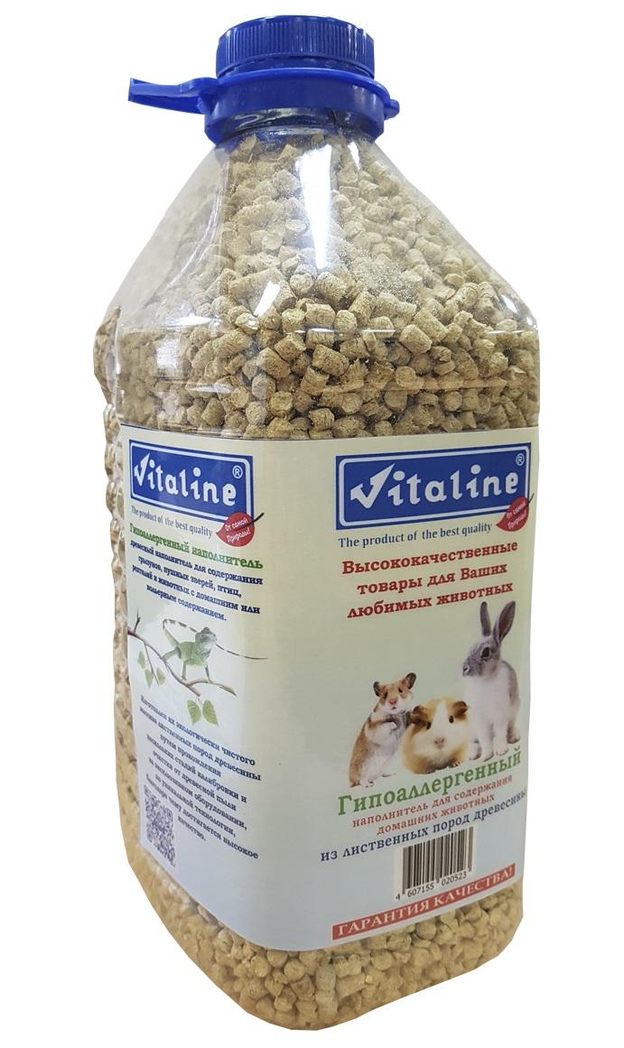 Наполнитель для кошачьего туалета Vitaline, из лиственных пород древесины, 4,5 л