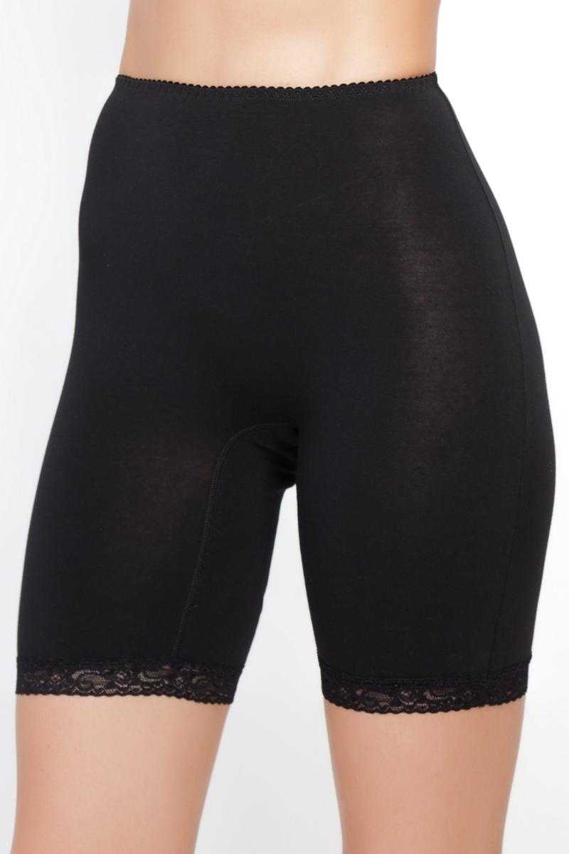 Панталоны женские Vis-A-Vis, цвет: черный. LHP1006. Размер S (44)LHP1006Элегантные панталоны Vis-A-Vis подчеркнут вашу женственность и уникальный вкус. Панталоны завышенной посадки выполнены из высококачественного эластичного хлопка, что позволяет им создавать неповторимое ощущение комфорта и удобства. Комфортные эластичные швы приятны к телу и не раздражают кожу. Изделие дополнено кружевными лентами по низу. Панталоны подтягивают и корректируют фигуру, удобно сидят, не стесняют движений и совершенно незаметны под одеждой, что обеспечивает наибольшее удобство при носке. Они позволят вам чувствовать себя комфортно в любое время и подчеркнут ваше очарование и привлекательность.