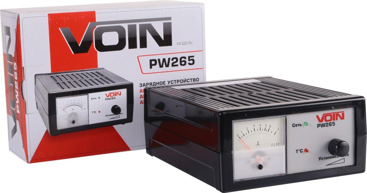 Зарядное устройство Azard Voin PW265, для автомобильных аккумуляторовvn265Зарядное устройство с автоматическим режимом заряда АКБ 12В. Плавная регулировка выходного тока 0,6-6А. Стрелочный индикатор выходного тока. Емкость заряжаемого аккумулятора 5-60А·ч. Номинальное напряжение заряжаемой батареи 12В. Питающая сеть переменного тока 220В, 50Гц. Зарядное устройство работает в автоматическом режиме с уменьшением зарядного тока в конце заряда.