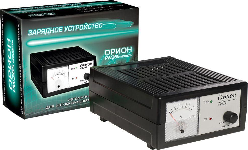 Зарядное устройство Орион PW 265, импульсноеЗАРЯД265Зарядное устройство с автоматическим режимом заряда АКБ 12В. Плавная регулировка выходного тока 0,6-6А. Стрелочный индикатор выходного тока. Емкость заряжаемого аккумулятора 5-60А/ч.