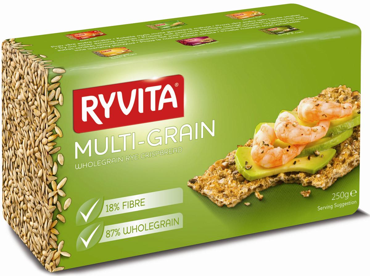 все цены на Ryvita Multi Grain хлебцы многозерновые из цельного зерна, 250 г в интернете