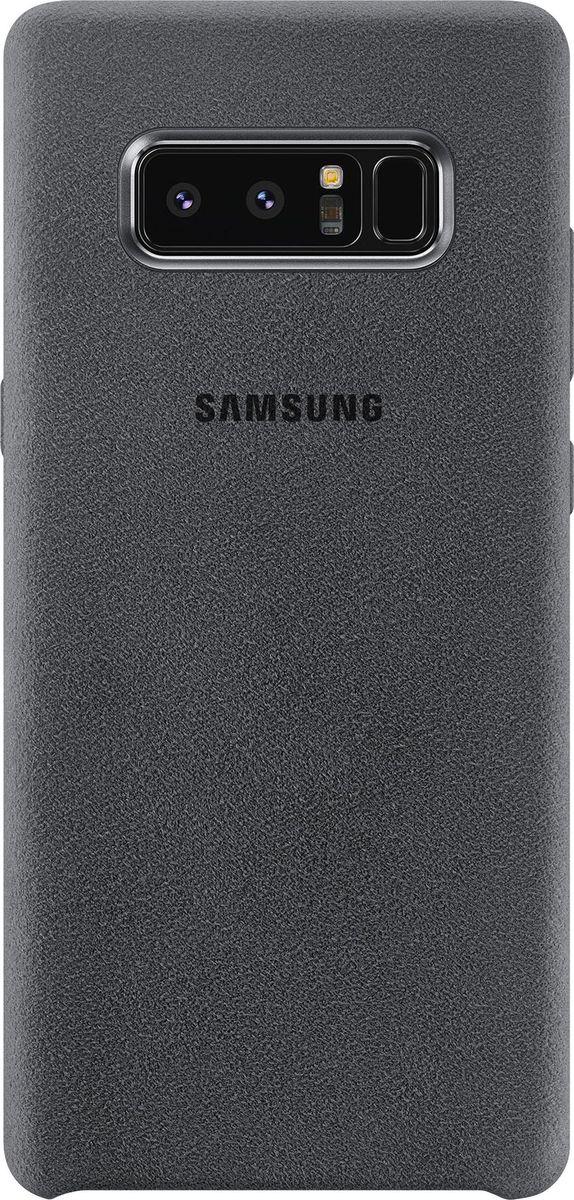 Samsung EF-XN950 Alcantara Cover Great чехол для Note 8, Dark GreyEF-XN950AJEGRUЛицевая поверхность чехла Samsung Alcantara Cover выполнена из алькантары - ультрамикрофибры высочайшего качества, отличающейся мягкостью, богатой цветовой гаммой, великолепной износостойкостью и долговечностью.Чехол Alcantara Cover не только придаёт смартфону изящный и элегантный вид, но и обеспечивает необходимую защиту от многих внешних воздействий.
