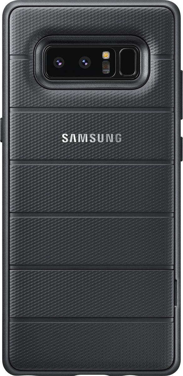 Samsung EF-RN950 Protective Standing Cover Great чехол для Galaxy Note 8, BlackEF-RN950CBEGRUС Protective Standing Сover вы получаете более высокую по сравнению с обычными чехлами защиту вашего смартфона от повреждений при ударах или падениях. Чехол прошел сертификацию на соответствие стандарту ударопрочности MIL-STD-810G-516.7 для электронных устройств, принятого в армии США. Встроенная в чехол подставка позволит вам расположить смартфон горизонтально под оптимальным углом для просмотра видео или работы с документами.