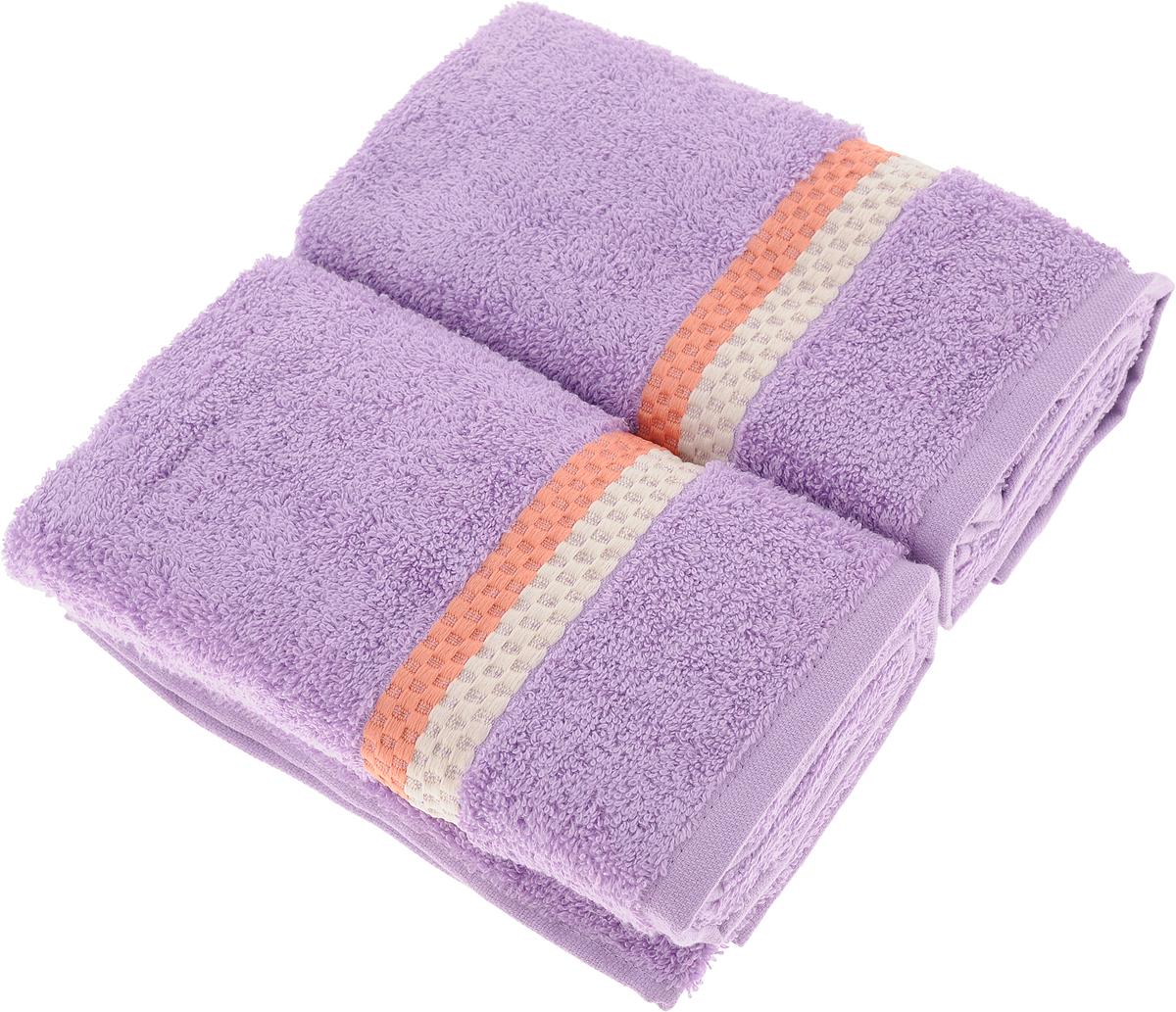 Набор полотенец Aquarelle Настроение, цвет: сиреневый, 50 х 90 см, 2 шт706223_сиреневыйМахровые полотенца Aquarelle Настроение - неотъемлемая часть повседневного быта, они создают дополнительные акценты в ванной комнате. Продукция производится из высококачественных материалов.Уважаемые клиенты!Обращаем ваше внимание на цветовой ассортимент товара. Поставка осуществляется в зависимости от наличия на складе.