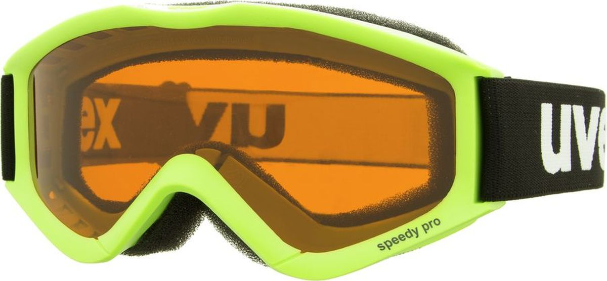 Маска горнолыжная Uvex Speedy Pro Kids Goggles, цвет: салатовый3819Маска для катания на горных лыжах или сноуборде, специально разработанная для безопасности детей и подростков. Модель подойдет для искусственного освещения и тумана.КОМФОРТВ модели предусмотрены удобный уплотнитель и вентиляция.КОНТРАСТ И ЧЕТКОСТЬ ИЗОБРАЖЕНИЯПоликарбонатная линза усиливает контрастность и не запотевает благодаря покрытию Supravision.ЗАЩИТА ОТ УЛЬТРАФИОЛЕТА100 % защита глаз от вредного УФ-излучения.