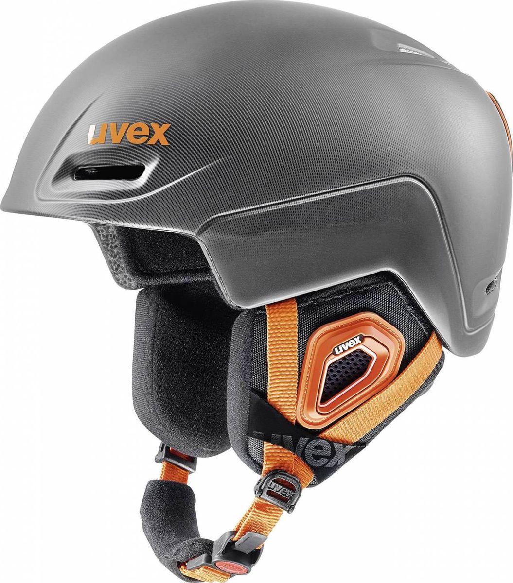 Шлем горнолыжный Uvex Jimm Helmet, цвет: серый, черный матовый. Размер L6206Удобный шлем от Uvex обеспечит безопасность на склоне. В модели предусмотрена съемная защита ушей.Гипоаллергенная подкладка и регулируемая вентиляция гарантируют комфорт во время катания. Фиксатор стрэпа маски и застежка monomatiс, которую легко отрегулировать одной рукой, служат для удобства использования. Сделано в Германии.
