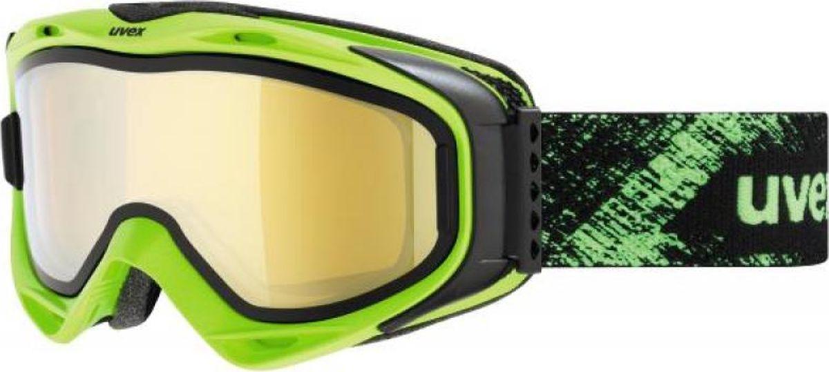 Маска горнолыжная Uvex G.Gl 300 TO Ski Mask, цвет: лайм матовый213Маска Uvex G.Gl 300 TO Ski Mask для катания на горных лыжах. Модель рассчитана на неяркое солнце. БЫСТРАЯ ЗАМЕНА ЛИНЗЫТехнология Take Off позволяет зафиксировать дополнительную линзу поверх основной, чтобы приспособить маску к меняющимся погодным условиям.КОМФОРТВ модели использован комфортный пенный уплотнитель.ЗАЩИТА ОТ ЗАПОТЕВАНИЯПокрытие Supravision не позволит линзе запотеть.СОВМЕСТИМОСТЬ С ОЧКАМИМаску можно носить поверх очков, корректирующих зрение.