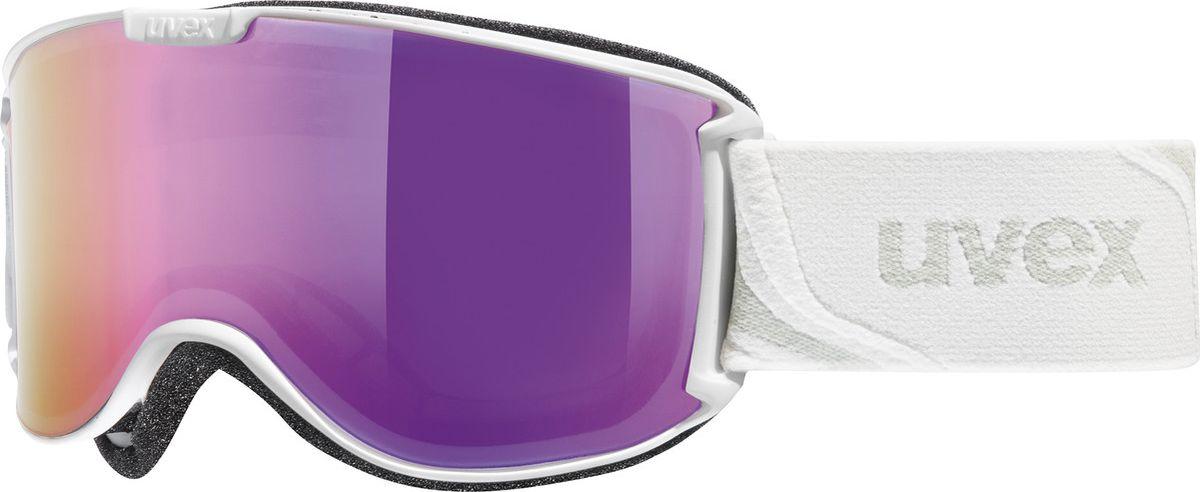 Маска горнолыжная женская Uvex Skyper LM Ski Mask, цвет: белый матовый, фиолетовый421Женская горнолыжная маска Uvex Skyper LM Ski Mask предназначена для девушек, которые любят фрирайд. Модель рассчитана на катание при неярком солнце.Благодаря конструкции без оправы снег не налипает на маску, а просто соскальзывает с линзы, а покрытие Supravision не позволяет линзе запотевать.В маске использован комфортный уплотнитель из велюра.Гарантирована 100 % защита от УФ-лучей.