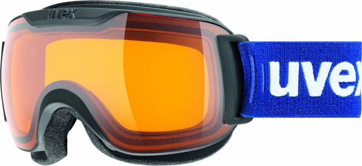 Маска горнолыжная Uvex Downhill 2000 S race Ski Mask, цвет: черный матовый439Маска для катания на горных лыжах или сноуборде в солнечную и облачную погоду. Снег больше не налипает на маску, а просто соскальзывает с нее. Сделано в Германии.МАКСИМАЛЬНЫЙ ОБЗОРБлагодаря большой линзе и конструкции без оправы у маски превосходный обзор.КОМФОРТВ модели использован комфортный пенный уплотнитель.ЗАЩИТА ОТ ЗАПОТЕВАНИЯПокрытие Supravision не даст линзе запотеть.ЗАЩИТА ОТ УЛЬТРАФИОЛЕТАЛинза c зеркальным покрытием обеспечивает 100 % защиту от UVA, -B, -C.