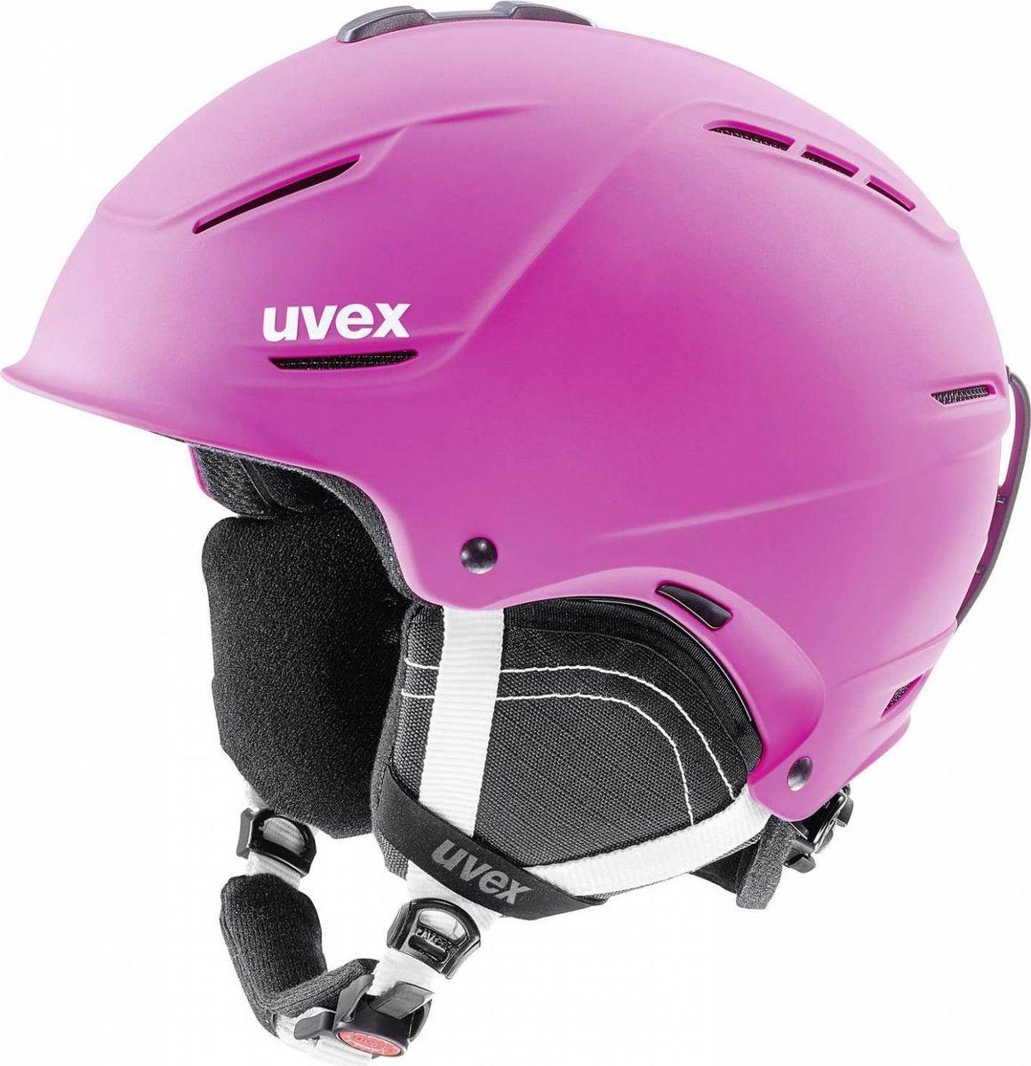 Шлем горнолыжный Uvex P1us 2.0 Helmet, цвет: розовый матовый. Размер 52/556211Удобный шлем от Uvex с конструкцией +technology обеспечит безопасность на склоне. В модели предусмотрена съемная защита ушей с технологией Natural Sound, которая не искажает звуки. Гипоаллергенная подкладка и регулируемая вентиляция гарантируют комфорт во время катания. Фиксатор стрэпа маски и застежка monomatiс, которую легко отрегулировать одной рукой, служат для удобства использования. Система IAS для индивидуальной подгонки по размеру. Сделано в Германии.