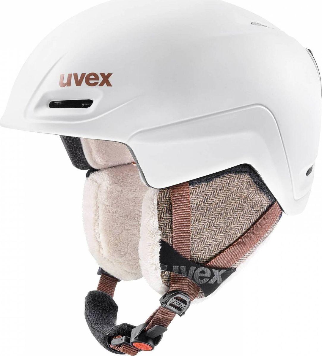 Шлем горнолыжный Uvex  Jimm Helmet , цвет: белый матовый. Размер S - Горные лыжи