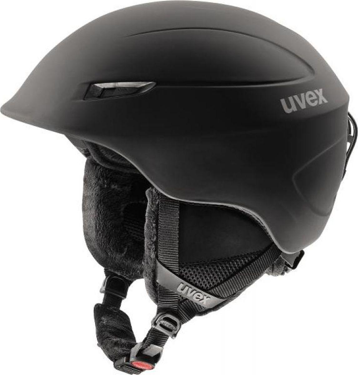 Шлем горнолыжный Uvex Oversize Helmet, цвет: черный матовый. Размер 60/646219Зимний шлем большого размера. -Съемные вкладыши для ушей-Антиаллергенный вкладыш-Закрывающаяся вентиляционная система-Фиксатор головы-Съемная подкладка,