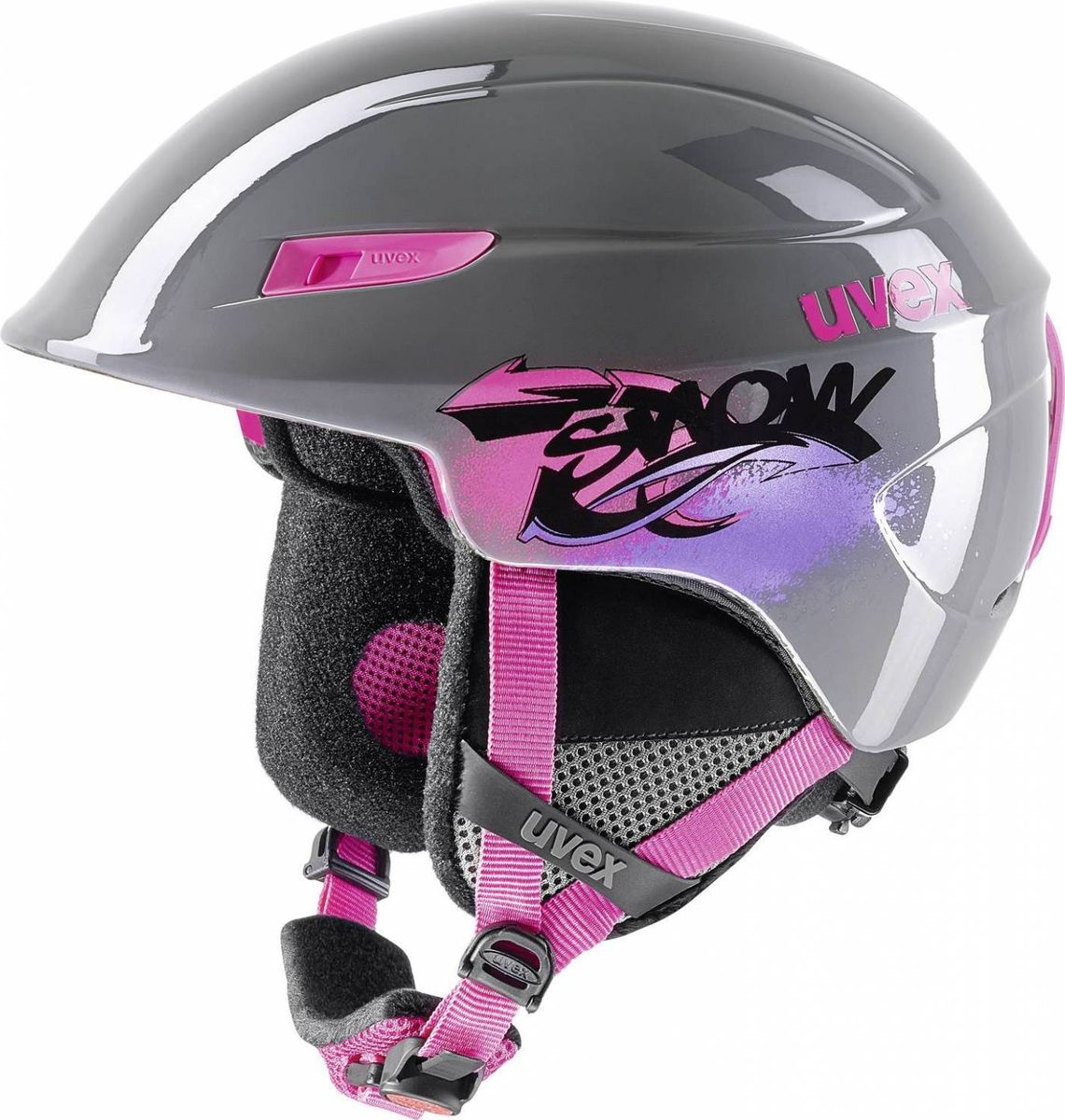 Шлем горнолыжный детский Uvex U-kid Kids Helmet, цвет: серый. Размер 51/556218Детский шлем Uvex U-kid Kids Helmet обеспечит юному лыжнику максимальный комфорт на склоне. В модели предусмотрены система вентиляции и фиксатор стрэпа маски. Подкладка выполнена из гипоаллергенного материала.