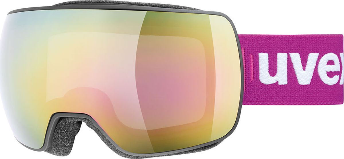 Маска горнолыжная Uvex Compact FM Ski Mask, цвет: черный матовый130Горнолыжная маска Uvex Compact FM Ski Mask отлично подойдет для катания в солнечную погоду.МАКСИМАЛЬНЫЙ ОБЗОРБлагодаря большой линзе и конструкции без оправы у маски превосходный обзор.КОМФОРТВ модели использован комфортный пенный уплотнитель.ЗАЩИТА ОТ ЗАПОТЕВАНИЯПокрытие Supravision не позволит линзе запотеть.ЗАЩИТА ОТ УЛЬТРАФИОЛЕТАЛинза c зеркальным покрытием и технологией 100% UVA- UVB- UVC-PROTECTION обеспечивает защиту от всех видов ультрафиолетового излучения.
